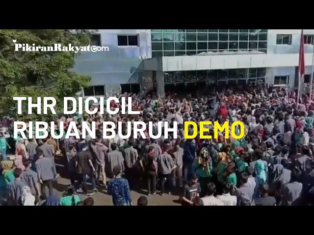 Di Tengah Pandemi COVID-19, Ribuan Buruh di Sukabumi Demo Tuntut THR Dibayar Penuh