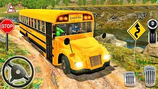 Offroad High School Bus Driver Simulator - Bus Driving Simulator 3D - Android GamePlay