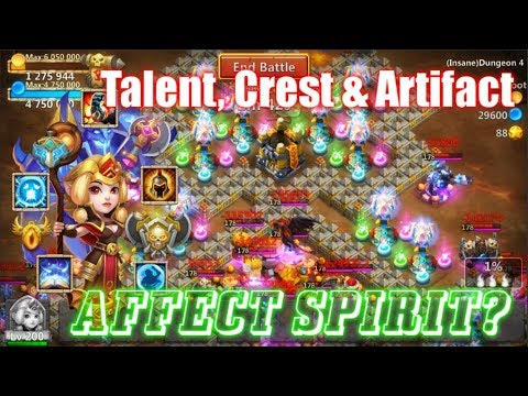 Crest, Talent & Artifact On ESPIRITA AFFECT SPIRIT? Castle Clash
