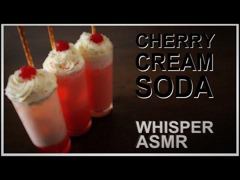 Cherry Cream Soda - Whispering ASMR cooking recipe