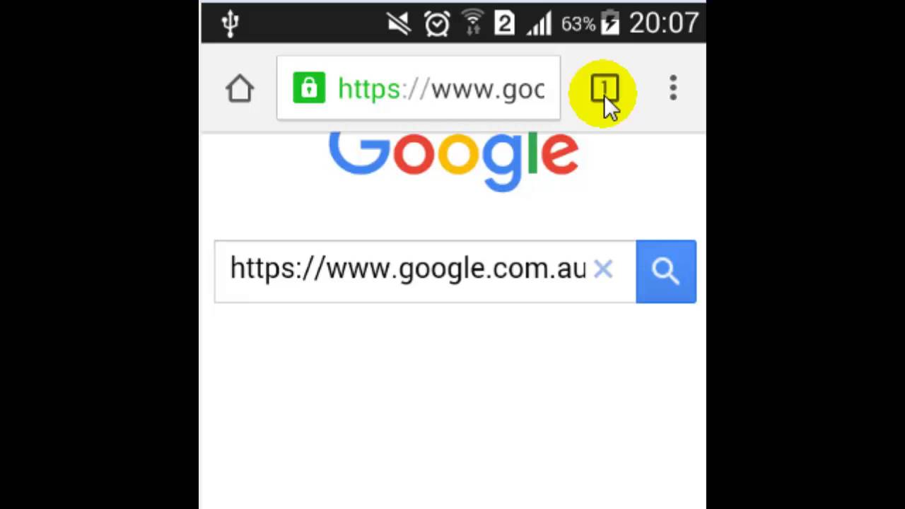 How to open new tab in chrome android app