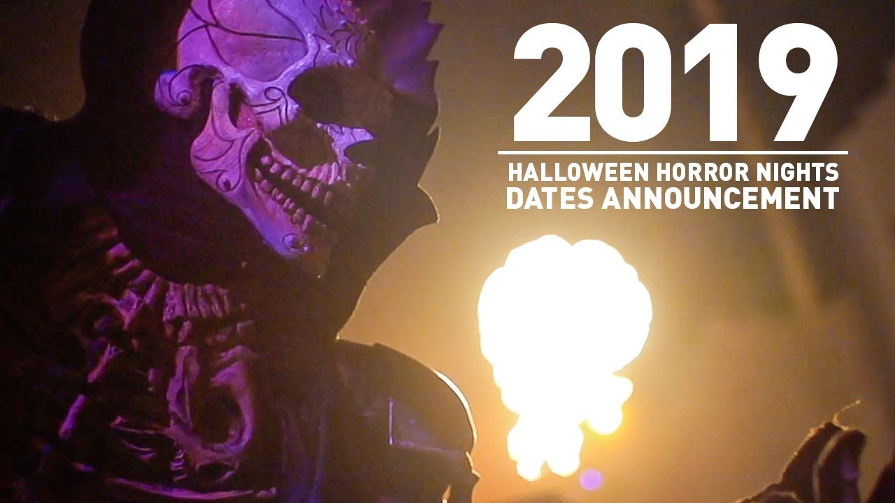 Halloween Horror Nights 2019 Dates Announcement!