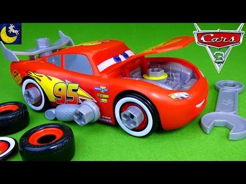 NEW Race Ready Take Apart Lightning McQueen Disney Cars 3 Toys Mack Mobile Tool Center Kit 2017 Toys