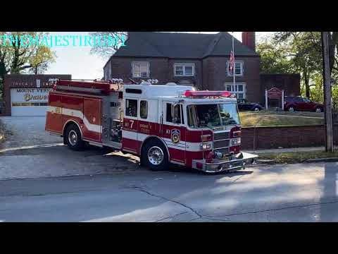 COMPILATION OF MOUNT VERNON FIRE DEPARTMENT APPARATUS RESPONDING ON STREETS OF MOUNT VERNON NEW YORK