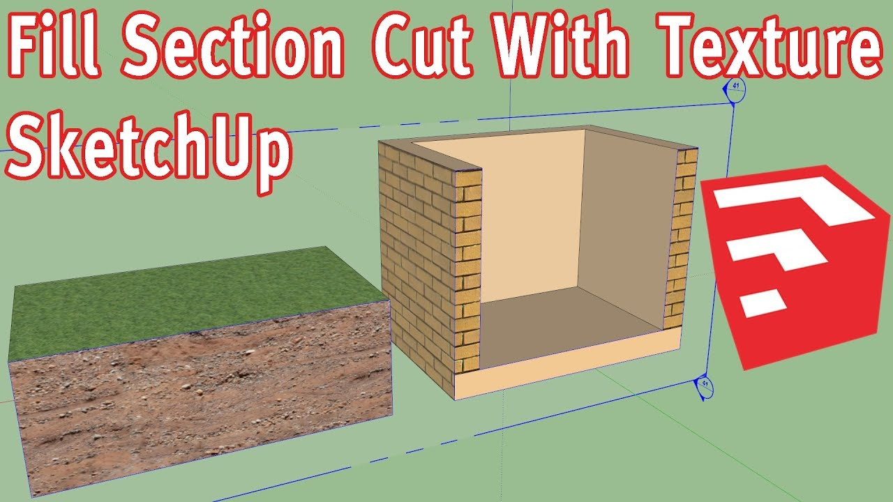 Fill Section Cut With Texture SketchUp - Without Plugin