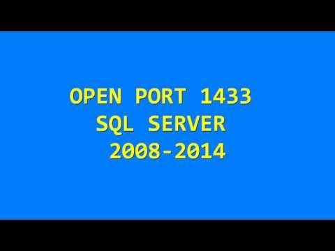 Как открыть порт 1433