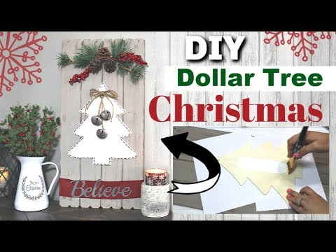 DIY DOLLAR TREE CHRISTMAS DECOR 2019 | Dollar Tree Farmhouse Christmas DIY | Krafts by Katelyn