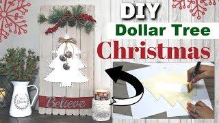 DIY DOLLAR TREE CHRISTMAS DECOR 2019 | Dollar Tree Farmhouse Christmas DIY | Krafts by Katelyn