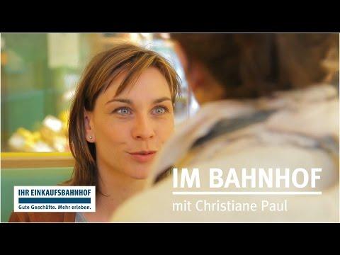 Im Bahnhof mit Christiane Paul