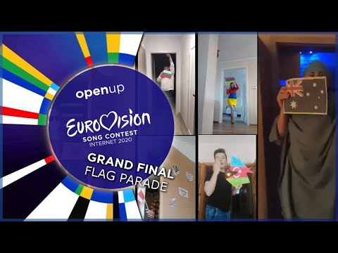 Flag Parade Sequence Of 2020 Eurovision Song Contest! - Grand Final - Opening