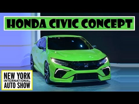 Honda Civic Concept Live At 2015 New York Auto Show Youtube