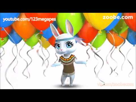 Zoobe Зайка Поздравляет с Днем рождения - Лучшие видео поздравления в ютубе (в высоком качестве)!