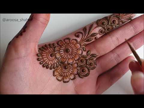 Latest Unique Stylish Arabic Henna Design