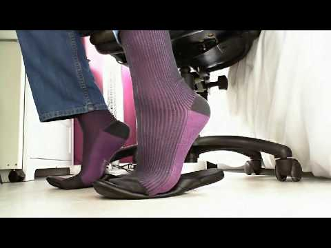 Purple at desk.wmv