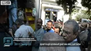 مصر العربية   صور السيسي تتصدر منافذ السلع الإستهلاكية بالمنيا