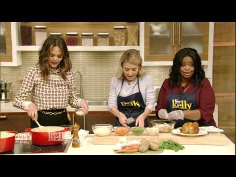 Chrissy Teigen Cooks Pot Pie Soup with Crust Crackers