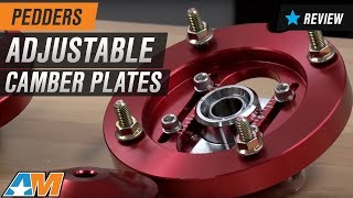 2005 2014 mustang pedders adjustable camber plates review