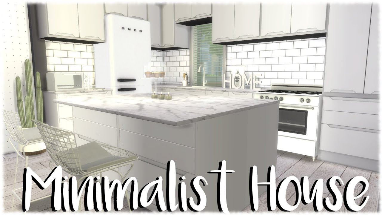 The Sims 4 Speed Build Minimalist Apartment Cc Links Youtube