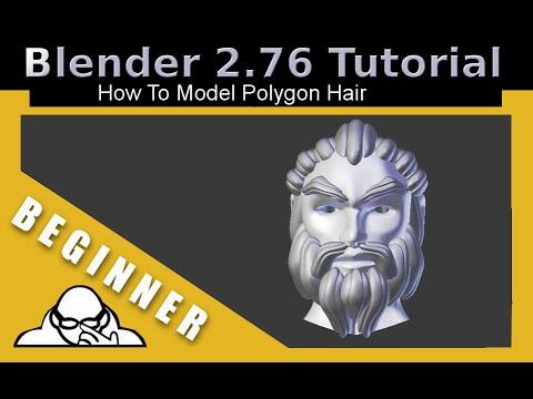 How To Model Polygon Hair In Blender 2.76