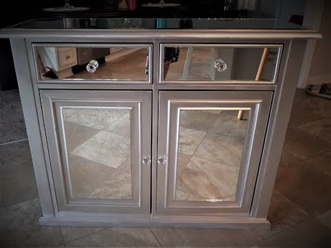 Mirrored Cabinet / mirrored Furniture / DIY