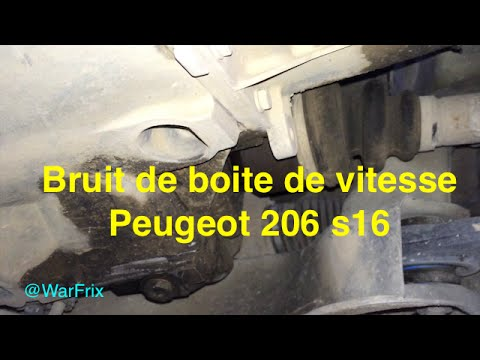 bruit boite de vitesse 206 s16 youtube. Black Bedroom Furniture Sets. Home Design Ideas