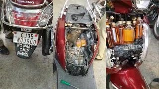Bootleggers hide alcohol in two wheeler deky on surat ॥ Sand…