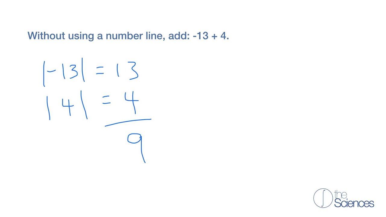 worksheet Number Line Without Numbers add numbers without a number line 7 youtube 7