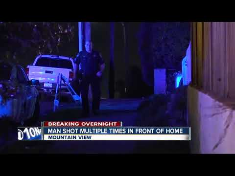 Man shot multiple times in front of Mountain View home
