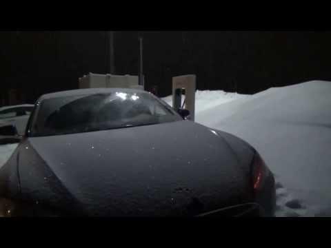 Tesla Motors Model S: Impromptu Road Trip to Detroit International Auto Show 2014---Wild Ride!