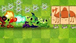 Every Peashooter vs Camel, Pharaoh Zombie and Gargantuar Plants vs Zombies 2 Ultimate Power UP