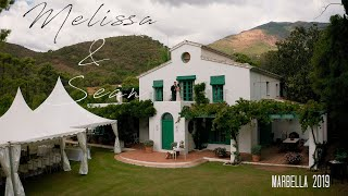 Melissa & Sean. Traditional Irish wedding video at Casa del Rio, Marbella