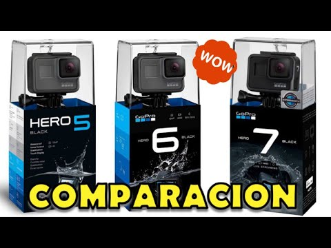 Comparacion De La Gopro Hero7 Hero6 Y Hero5 Video En 4k Youtube