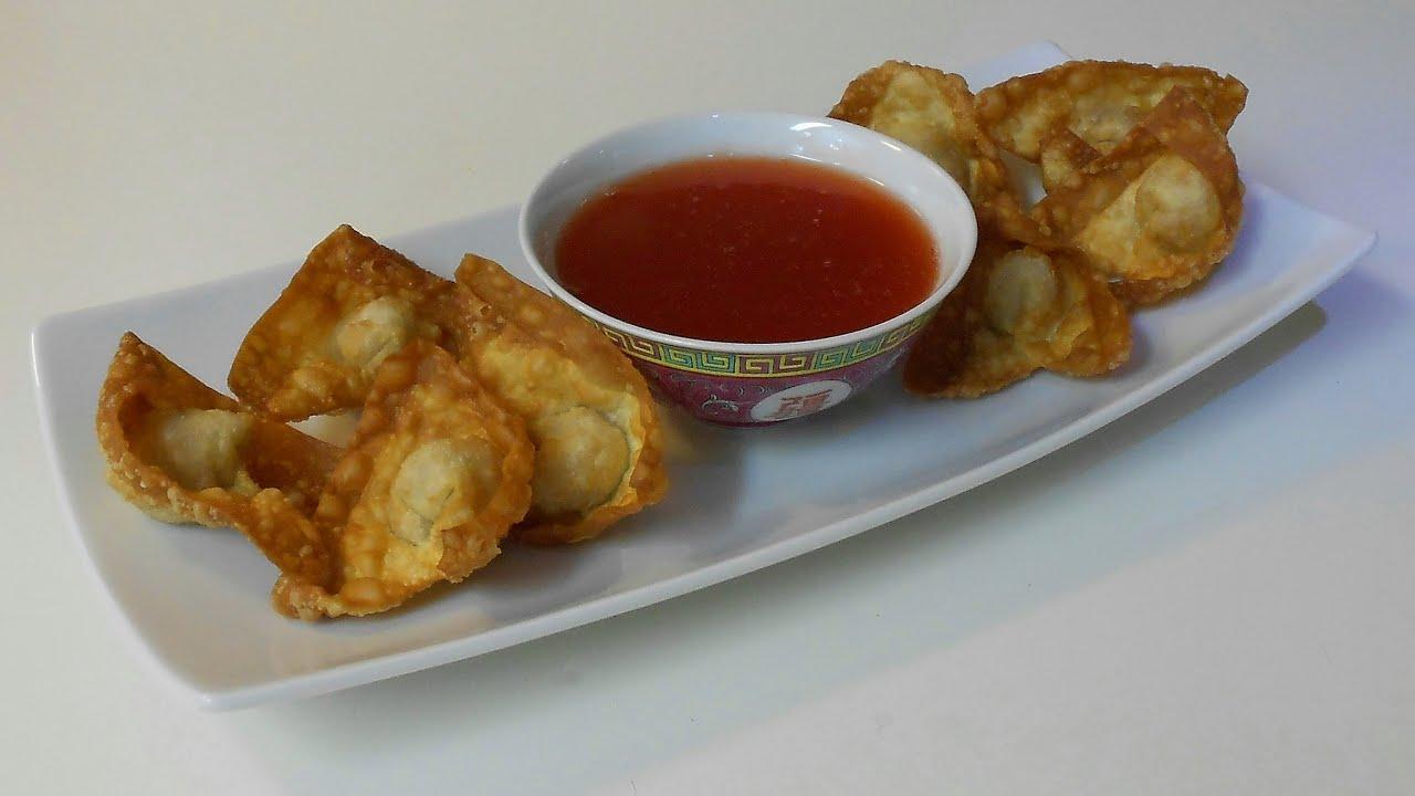 como hacer wantan frito chino