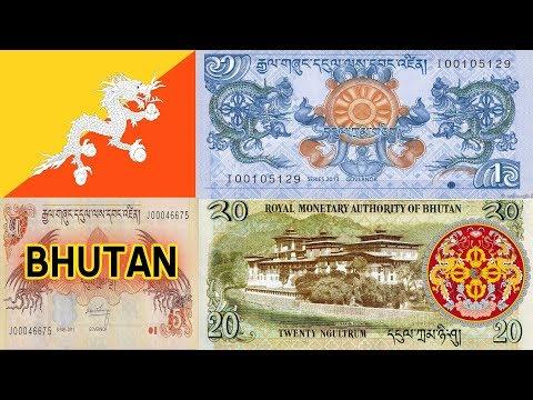 Bhutanese Ngultrum 1 , 5 , 10, 20 series 2011 2013 Bank Note
