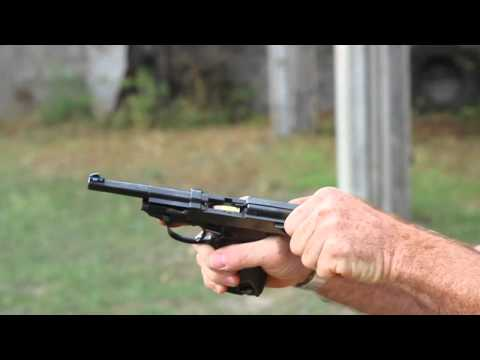 Shooting the Walther P38 pistol