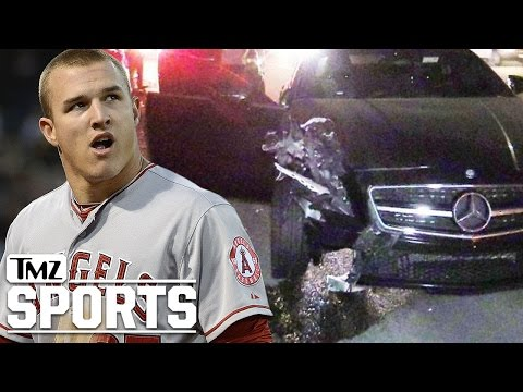 Mike Trout Involved In Bad Car Crash ... Escapes Unscathed