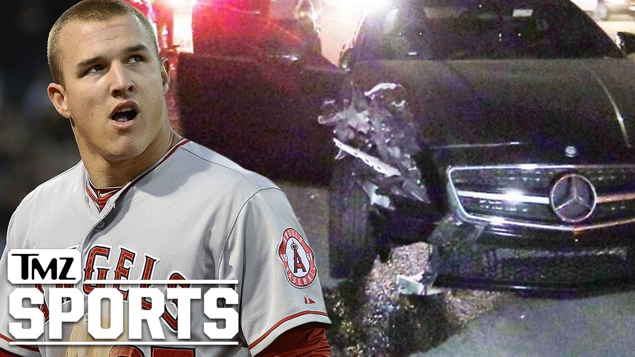 Mike Trout Involved In Bad Car CrashEscapes Unscathed