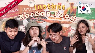 Are Instant Korean Food Any Good?   Taste Testers   EP 120