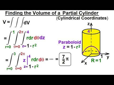 calculus 3: triple integrals (21 of 25) finding the volume of a partial  cylinder