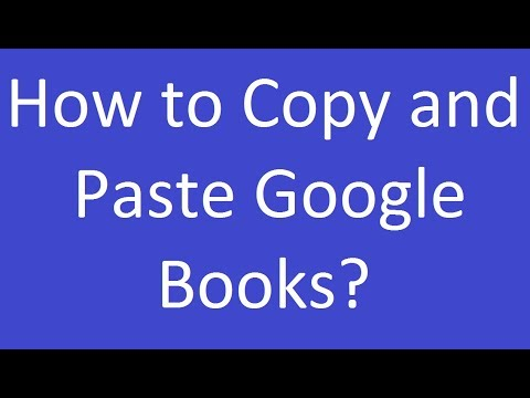 How To Copy And Paste Google Books?