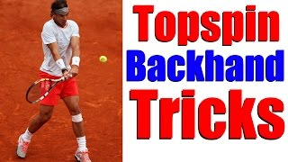 Video Tennis Two Handed Backhand Topspin Lesson - Hit Heavy Topspin download MP3, 3GP, MP4, WEBM, AVI, FLV Juni 2018