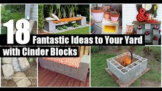 18 Fantastic Ideas to Your Yard with Cinder Blocks
