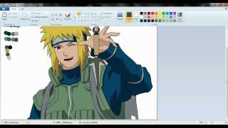 drawing minato namikaze in paint.