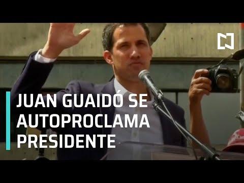 Juan Guaidó se autoproclama presidente de Venezuela; Trump lo respalda - Noticias con Karla Iberia