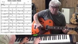 Havana, Cuban- mambo - Jazz guitar & piano cover ( Trad, )