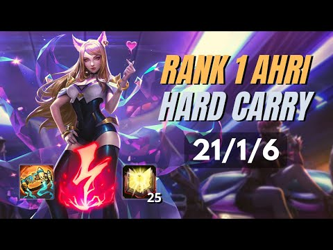 HOW TO CARRY 1V9 WITH FULL AP ASSASSIN AHRI | KDA Ranked Ahri Gameplay