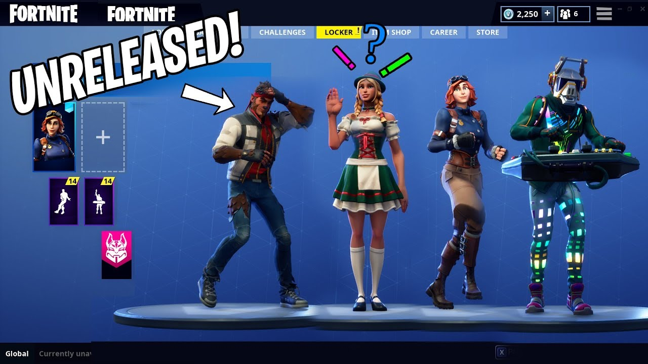 Unreleased Skins With Dances Showcase Season 6 Fortnite Mods