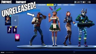 UNRELEASED Skins With Dances SHOWCASE?! Season 6 Fortnite Mods -Battle Royale