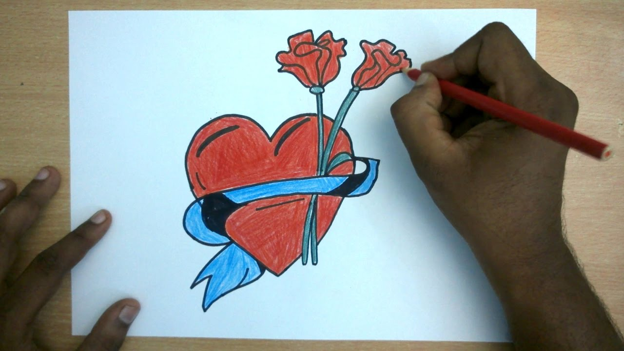 Valentines Day Drawing How To Draw A Valentines Design Heart