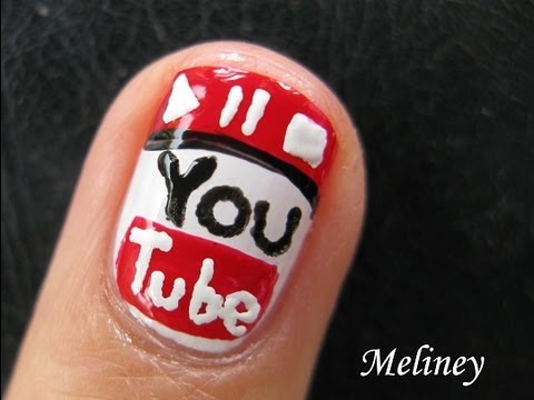 I Love Youtube Nails - Nail Art Pen Tutorial Design for Short Nails ...